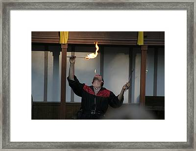 Maryland Renaissance Festival - Johnny Fox Sword Swallower - 121290 Framed Print