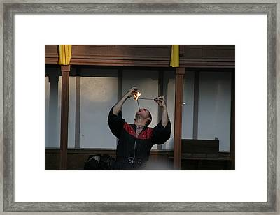 Maryland Renaissance Festival - Johnny Fox Sword Swallower - 121292 Framed Print by DC Photographer