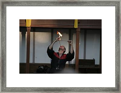 Maryland Renaissance Festival - Johnny Fox Sword Swallower - 121293 Framed Print