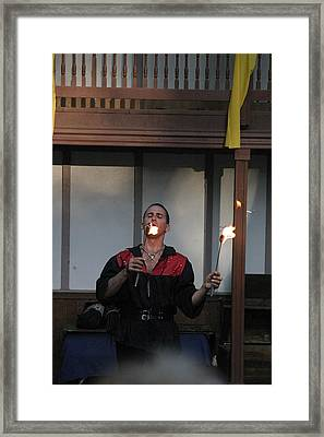 Maryland Renaissance Festival - Johnny Fox Sword Swallower - 121296 Framed Print by DC Photographer