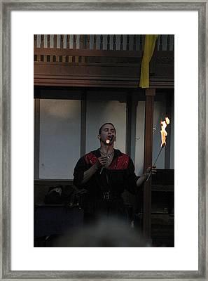 Maryland Renaissance Festival - Johnny Fox Sword Swallower - 121299 Framed Print by DC Photographer