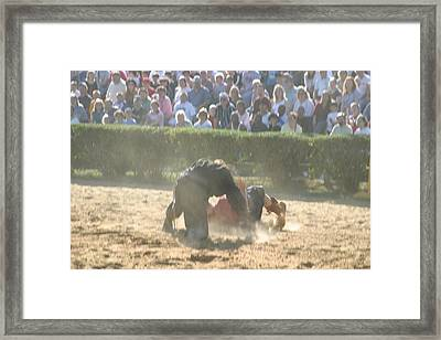 Maryland Renaissance Festival - Jousting And Sword Fighting - 1212102 Framed Print by DC Photographer