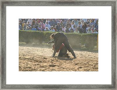 Maryland Renaissance Festival - Jousting And Sword Fighting - 1212105 Framed Print by DC Photographer