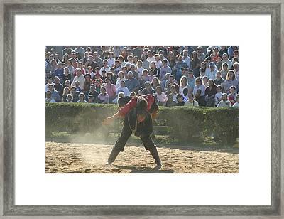 Maryland Renaissance Festival - Jousting And Sword Fighting - 1212108 Framed Print