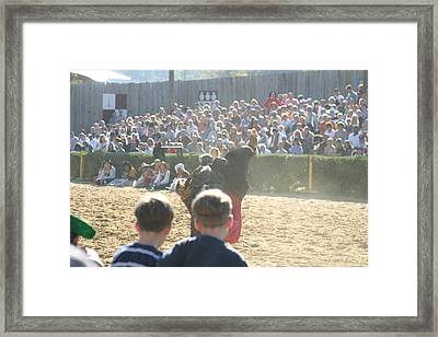 Maryland Renaissance Festival - Jousting And Sword Fighting - 1212113 Framed Print by DC Photographer
