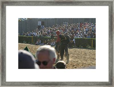 Maryland Renaissance Festival - Jousting And Sword Fighting - 1212115 Framed Print by DC Photographer