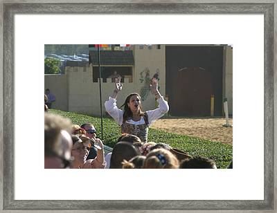 Maryland Renaissance Festival - Jousting And Sword Fighting - 1212122 Framed Print by DC Photographer