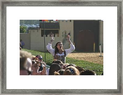 Maryland Renaissance Festival - Jousting And Sword Fighting - 1212122 Framed Print