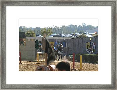 Maryland Renaissance Festival - Jousting And Sword Fighting - 1212124 Framed Print