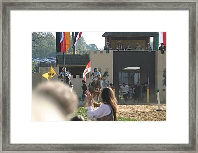 Maryland Renaissance Festival - Jousting And Sword Fighting - 1212125 Framed Print