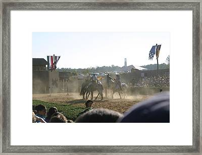 Maryland Renaissance Festival - Jousting And Sword Fighting - 1212139 Framed Print by DC Photographer