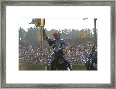 Maryland Renaissance Festival - Jousting And Sword Fighting - 1212143 Framed Print