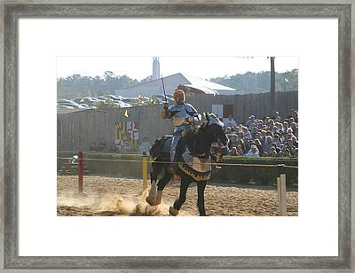Maryland Renaissance Festival - Jousting And Sword Fighting - 1212155 Framed Print by DC Photographer