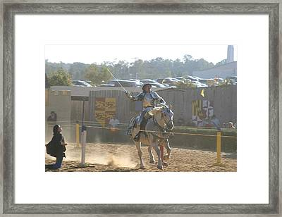 Maryland Renaissance Festival - Jousting And Sword Fighting - 1212157 Framed Print by DC Photographer