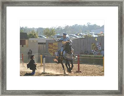 Maryland Renaissance Festival - Jousting And Sword Fighting - 1212160 Framed Print by DC Photographer
