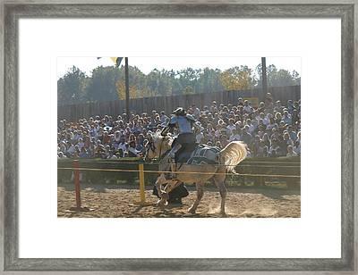 Maryland Renaissance Festival - Jousting And Sword Fighting - 1212167 Framed Print