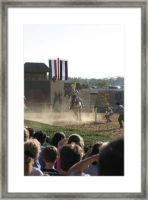 Maryland Renaissance Festival - Jousting And Sword Fighting - 1212174 Framed Print by DC Photographer