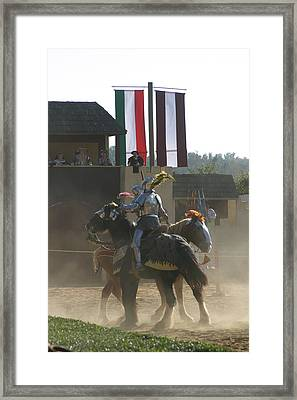 Maryland Renaissance Festival - Jousting And Sword Fighting - 1212175 Framed Print by DC Photographer