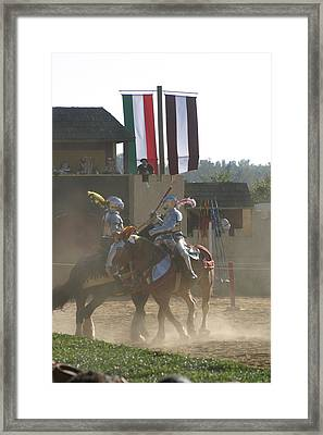 Maryland Renaissance Festival - Jousting And Sword Fighting - 1212177 Framed Print
