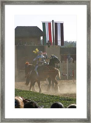 Maryland Renaissance Festival - Jousting And Sword Fighting - 1212178 Framed Print by DC Photographer