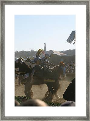 Maryland Renaissance Festival - Jousting And Sword Fighting - 1212184 Framed Print
