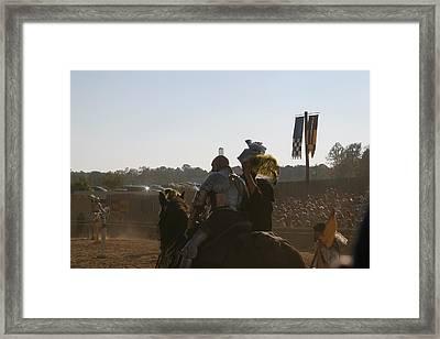 Maryland Renaissance Festival - Jousting And Sword Fighting - 1212185 Framed Print