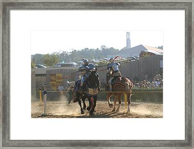 Maryland Renaissance Festival - Jousting And Sword Fighting - 1212188 Framed Print by DC Photographer