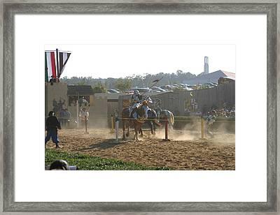 Maryland Renaissance Festival - Jousting And Sword Fighting - 1212191 Framed Print