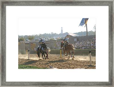 Maryland Renaissance Festival - Jousting And Sword Fighting - 1212192 Framed Print by DC Photographer