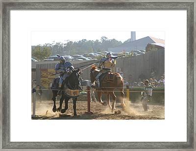 Maryland Renaissance Festival - Jousting And Sword Fighting - 1212197 Framed Print