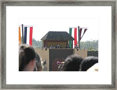 Maryland Renaissance Festival - Jousting And Sword Fighting - 1212200 Framed Print by DC Photographer