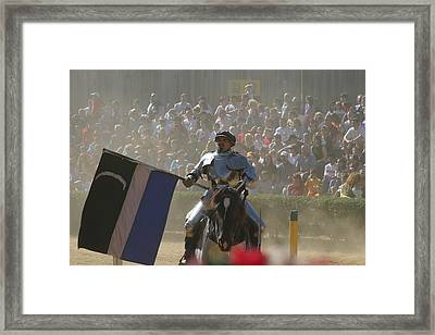 Maryland Renaissance Festival - Jousting And Sword Fighting - 1212206 Framed Print by DC Photographer