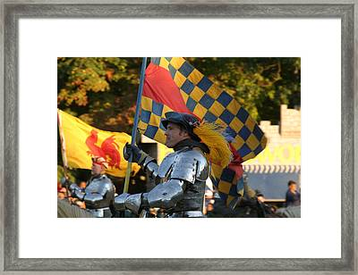 Maryland Renaissance Festival - Jousting And Sword Fighting - 121221 Framed Print