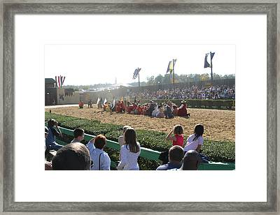 Maryland Renaissance Festival - Jousting And Sword Fighting - 1212212 Framed Print