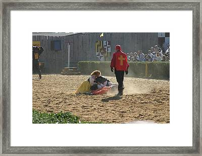 Maryland Renaissance Festival - Jousting And Sword Fighting - 1212215 Framed Print