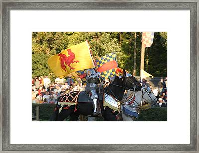 Maryland Renaissance Festival - Jousting And Sword Fighting - 121225 Framed Print