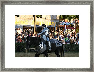 Maryland Renaissance Festival - Jousting And Sword Fighting - 121230 Framed Print