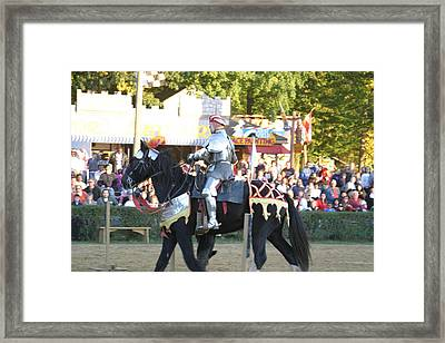 Maryland Renaissance Festival - Jousting And Sword Fighting - 121233 Framed Print