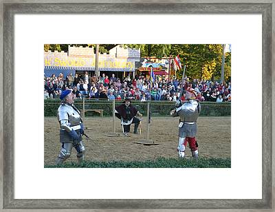 Maryland Renaissance Festival - Jousting And Sword Fighting - 121239 Framed Print by DC Photographer