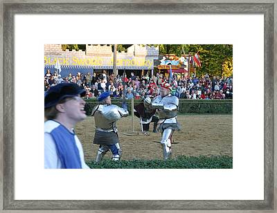 Maryland Renaissance Festival - Jousting And Sword Fighting - 121240 Framed Print