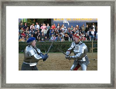 Maryland Renaissance Festival - Jousting And Sword Fighting - 121241 Framed Print by DC Photographer
