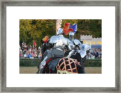 Maryland Renaissance Festival - Jousting And Sword Fighting - 121246 Framed Print by DC Photographer