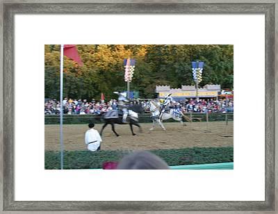Maryland Renaissance Festival - Jousting And Sword Fighting - 121250 Framed Print