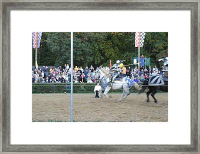 Maryland Renaissance Festival - Jousting And Sword Fighting - 121253 Framed Print