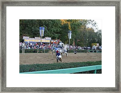 Maryland Renaissance Festival - Jousting And Sword Fighting - 121254 Framed Print