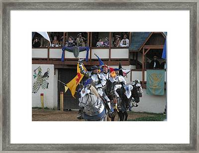 Maryland Renaissance Festival - Jousting And Sword Fighting - 121257 Framed Print by DC Photographer