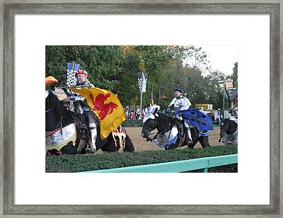 Maryland Renaissance Festival - Jousting And Sword Fighting - 121260 Framed Print