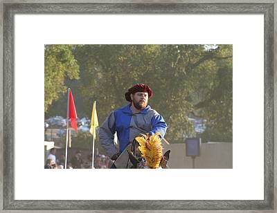 Maryland Renaissance Festival - Jousting And Sword Fighting - 121264 Framed Print