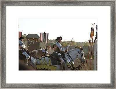 Maryland Renaissance Festival - Jousting And Sword Fighting - 121267 Framed Print