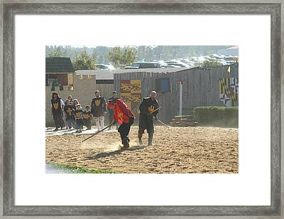 Maryland Renaissance Festival - Jousting And Sword Fighting - 121277 Framed Print
